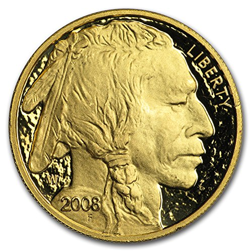 2008 W 1 oz Proof Gold Buffalo (Abrasions, Capsule Only) 1 OZ Brilliant Uncirculated