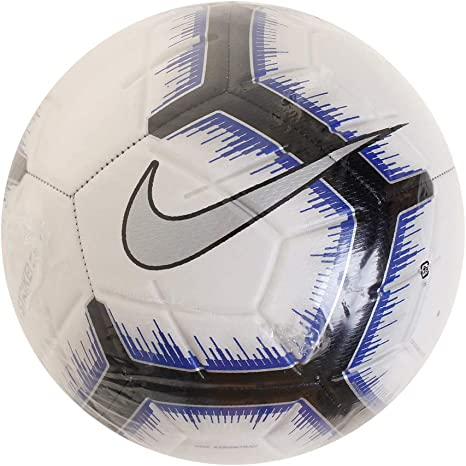 Nike Strike - Balón de fútbol, 4, White/Black/Racer Blue/Metallic ...