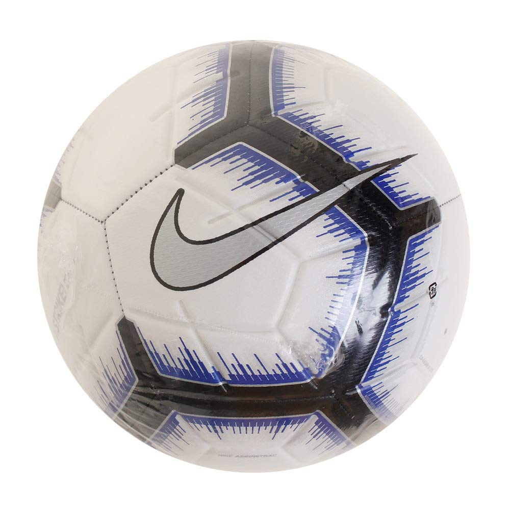 Nike Strike - Balón de fútbol, 4, White/Black/Racer Blue/Metallic ...
