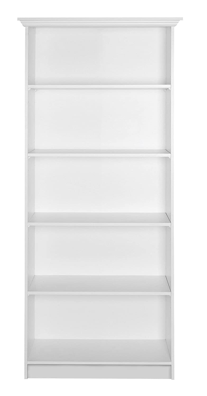Landhaus Regal - Bücherregal Standregal (B H T  80 x 200 x 35 cm) weiß