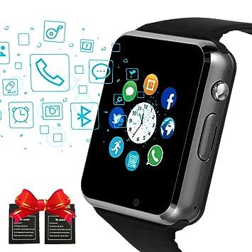 Moda Bluetooth Smart Relojes Pantalla Táctil con Ranura ...