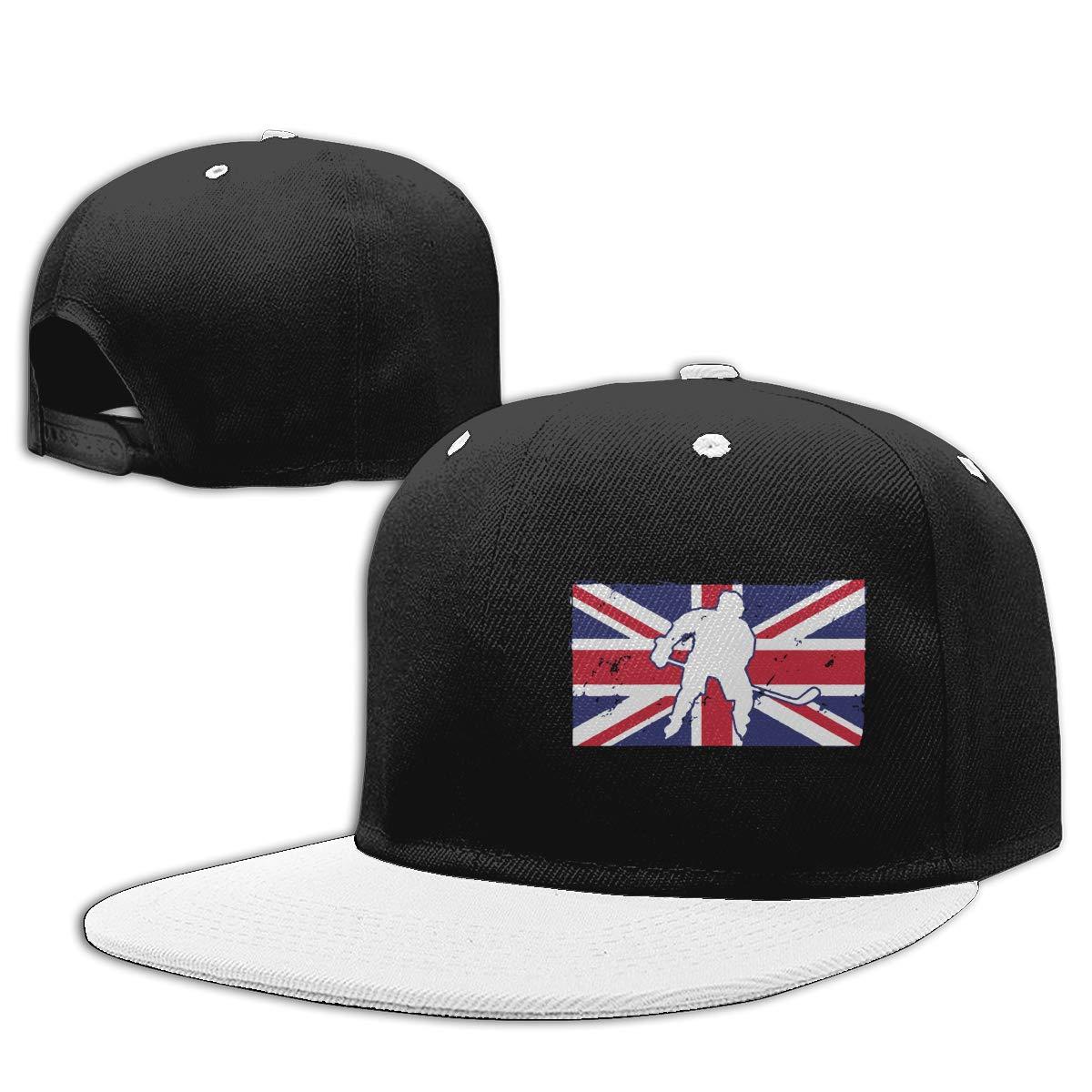 NMG-01 Women Men Snapback Cap Hockey Great Britain Flag Adults Flat Brim Baseball Caps
