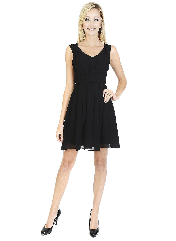 Urmoda Short Sleeveless little black dress Scoop neckline Party ...