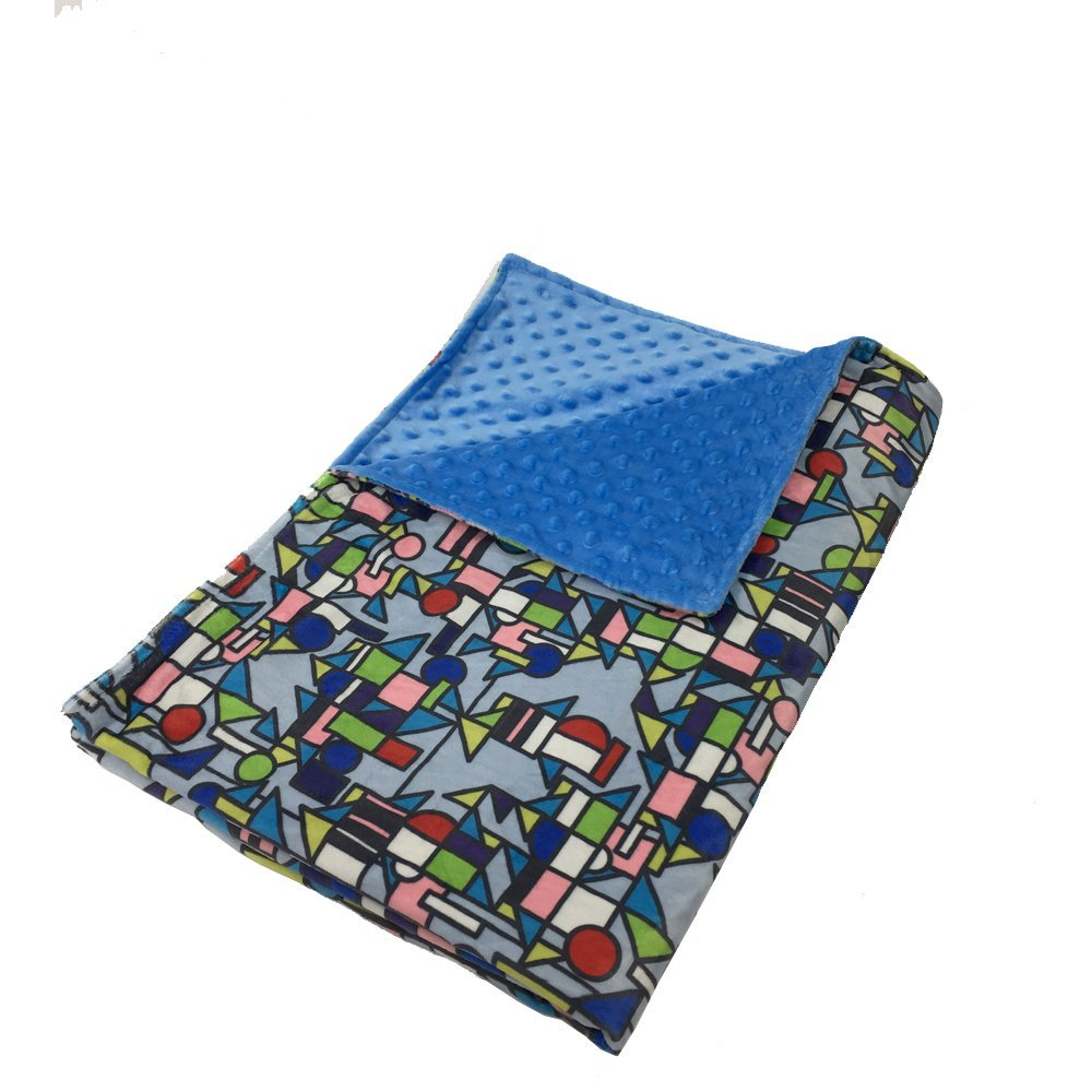 Printed Weighted Blanket Cover by Hypnoser for Child and Adults,(Only Duvet Cover Juggle-blue, 60''x80'')