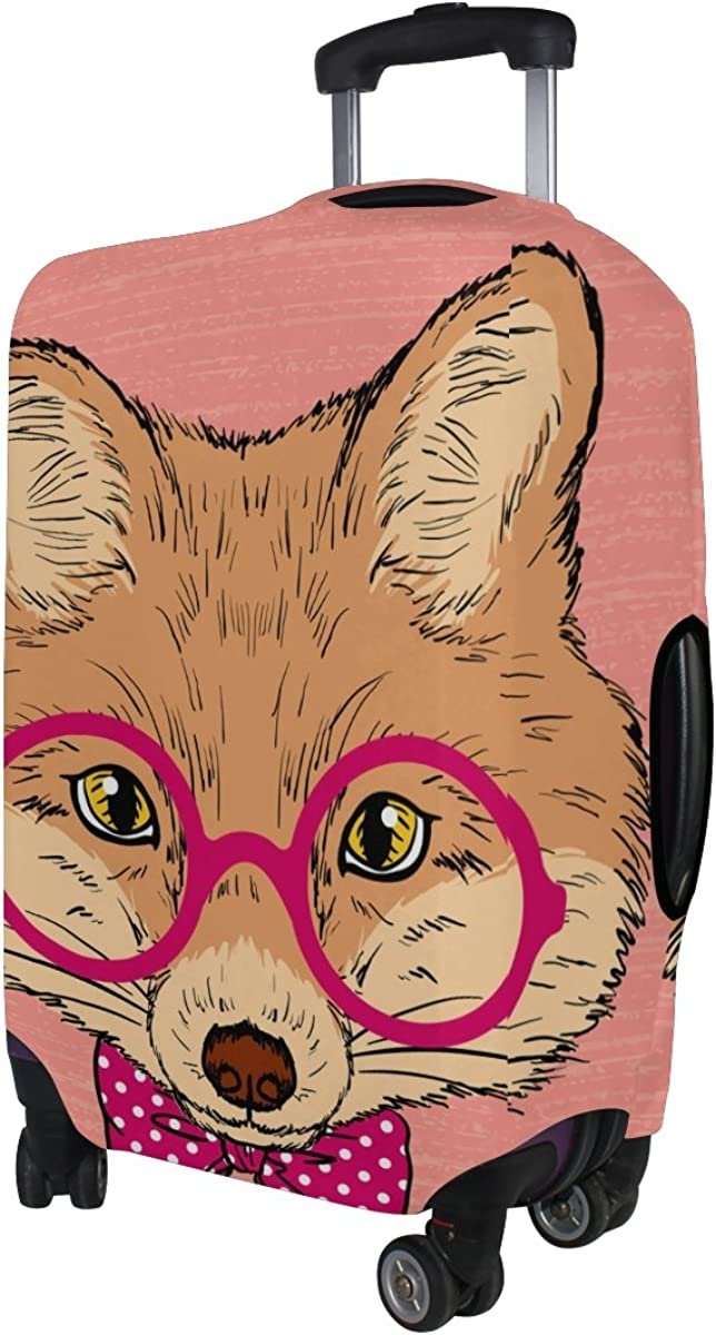 Jennifer Fox With Pink Glasses Travel Luggage Covers Suitcase Protector Fits 18-20 in