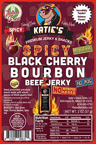 Spicy Black Cherry Bourbon Beef Jerky-GLUTEN FREE - No Preservatives, Nitrites, or MSG