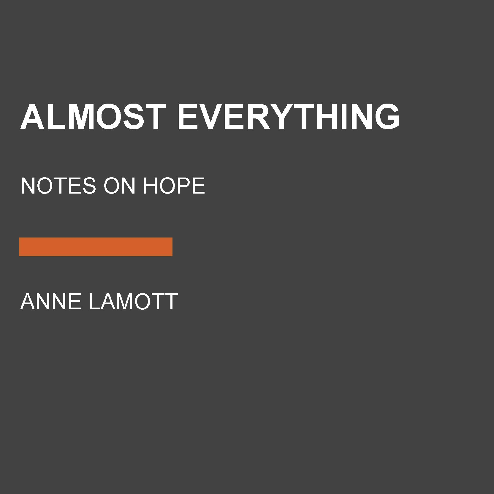Almost everything notes on hope anne lamott 9780525640516 amazon almost everything notes on hope anne lamott 9780525640516 amazon books fandeluxe Image collections