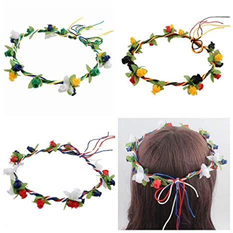Ppzmd Headwears Flower Garland Diadema Bohemio Ajustable ...