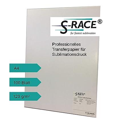S de Race Transfer Papel DIN A4 100 Hojas 120 g/m² - Papel ...