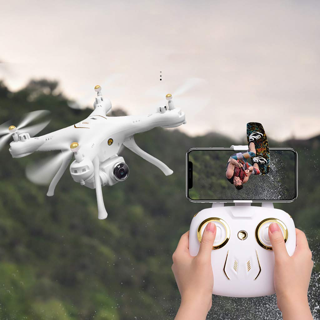 MOZATE Attop W9 WiFi GPS 1080P Camera Drone Altitude Hold Mode Headless Quadcopter (White) by MOZATE (Image #3)