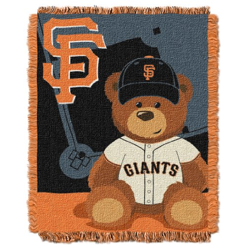 MLB San Francisco Giants Field Bear Woven Jacquard Baby Throw, 36