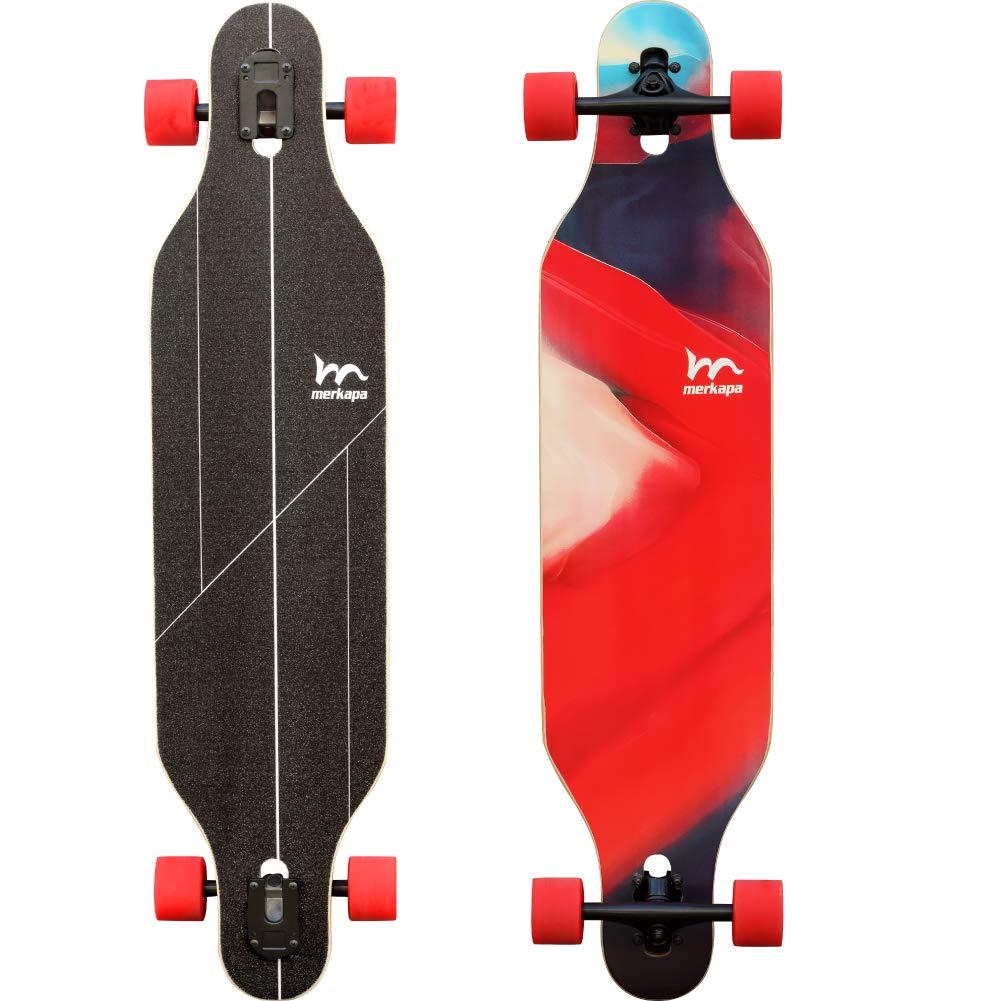Merkapa 41 Inch Drop-Through Longboard Skateboard Cruiser (Magma)