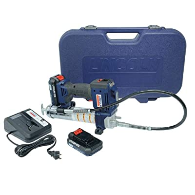 Lincoln 1884 20V Li-Ion PowerLuber Dual Battery Unit with Charger and Carrying Case: Automotive