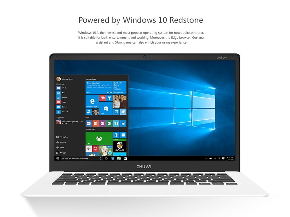 Chuwi - Ordenador portátil, 15,6 pulgadas, pantalla FHD, Windows 10, sistema dual, 4 GB RAM y 64 GB ROM Quad Core, enchufe europeo APOLLO LAKE N3450: ...