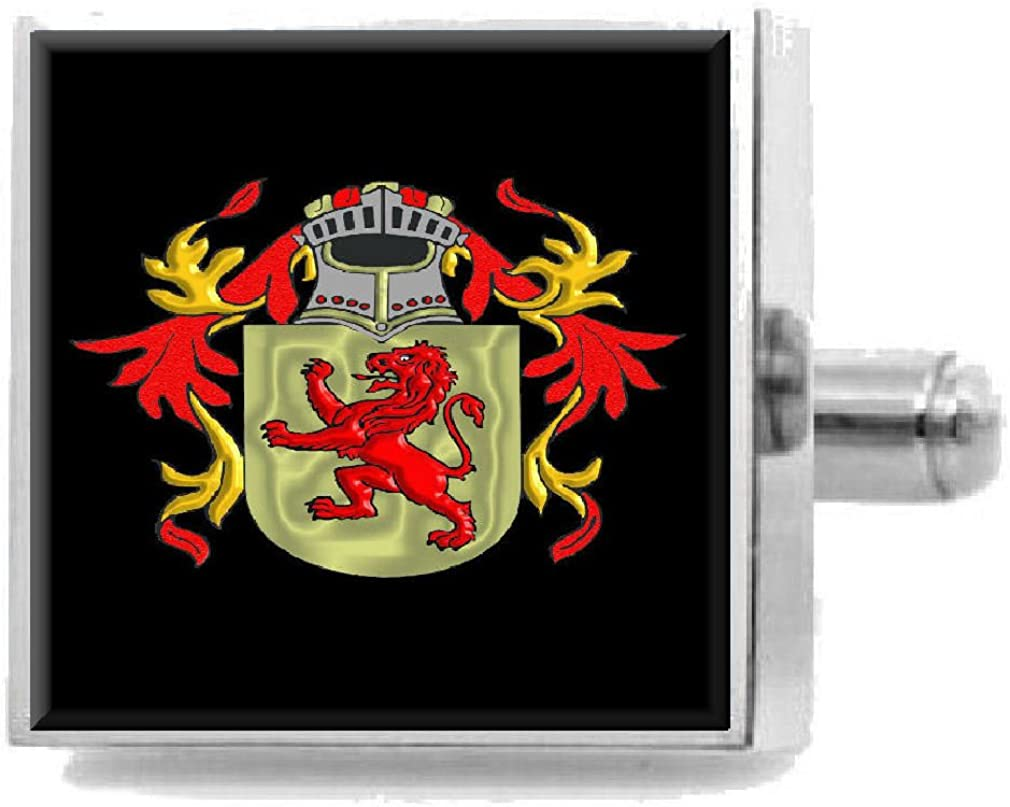 Select Gifts Whittall England Heraldry Crest Sterling Silver Cufflinks Engraved Box