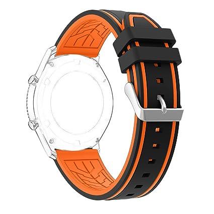 Amazon.com: Gear S3 Frontier/clásico banda de reloj, rosa ...
