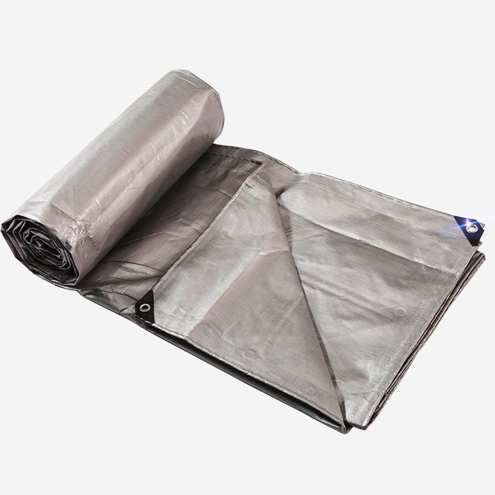 ふわふわ 雨布 防水 ハーディー プラスチッククロス シェード布 アウトドア 自動車 トラック 三輪車 耐寒性 日焼け止め 厚い ポリエチレン シルバー,3 * 3M B07FYDJ8W7 3*3m  3*3m
