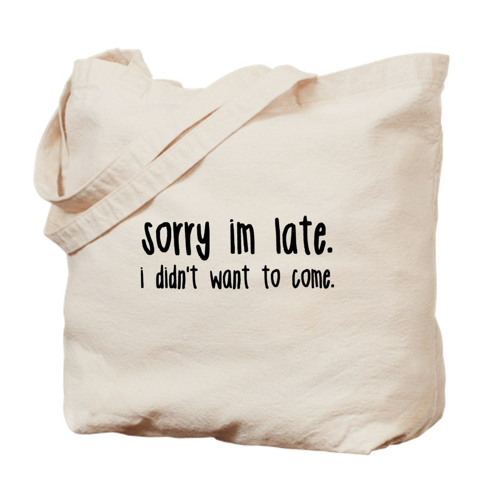 CafePress - Sorry I'm Late - 天然キャンバストートバッグ 布製ショッピングバッグ B01LSWXRDK