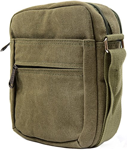 Holiday Body Bag 100 Shoulder Mens Ladies Summer Green Travel Luxury Canvas Work Cross FvU1UwPYq