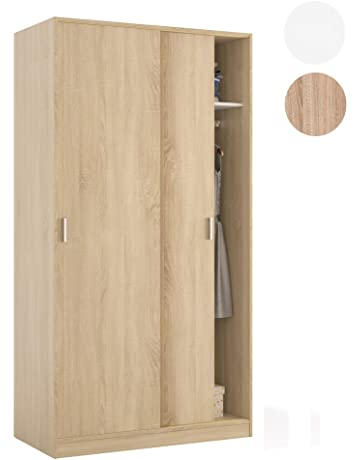 Habitdesign - Armario Dos Puertas correderas, Medidas: 100 x 200 x 50 cm de