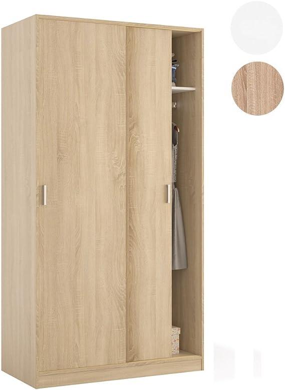 Habitdesign MAX019F - Armario Dos Puertas correderas, Color Roble ...