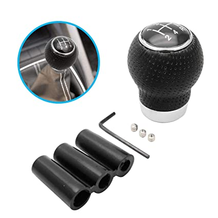 Universal 5 Speed Car Shift Knob Manual Gear Stick Shifter Lever Leather  \