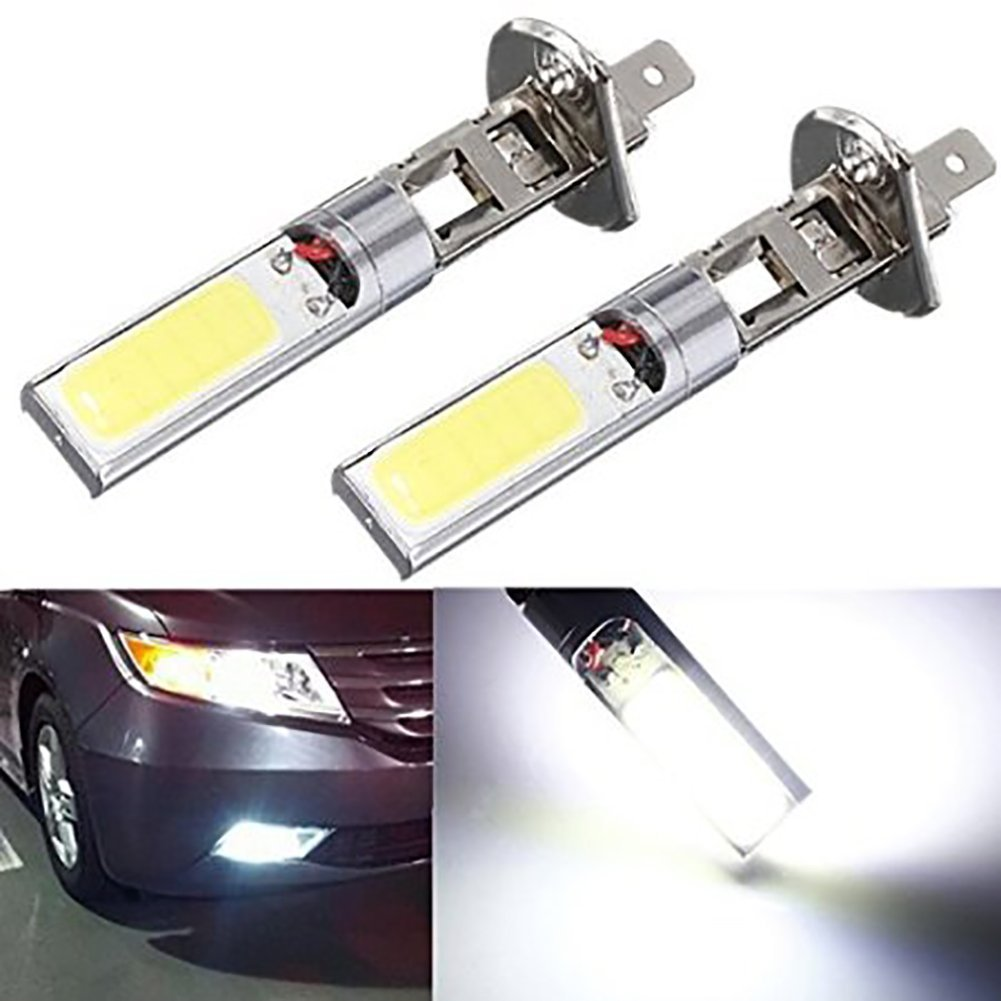 KaTur 2x H1 12V 10W H1 COB LED Car Fog Light Bulbs 6000K LED Auto Car Driving Lamp H1 Running Lights For Auto