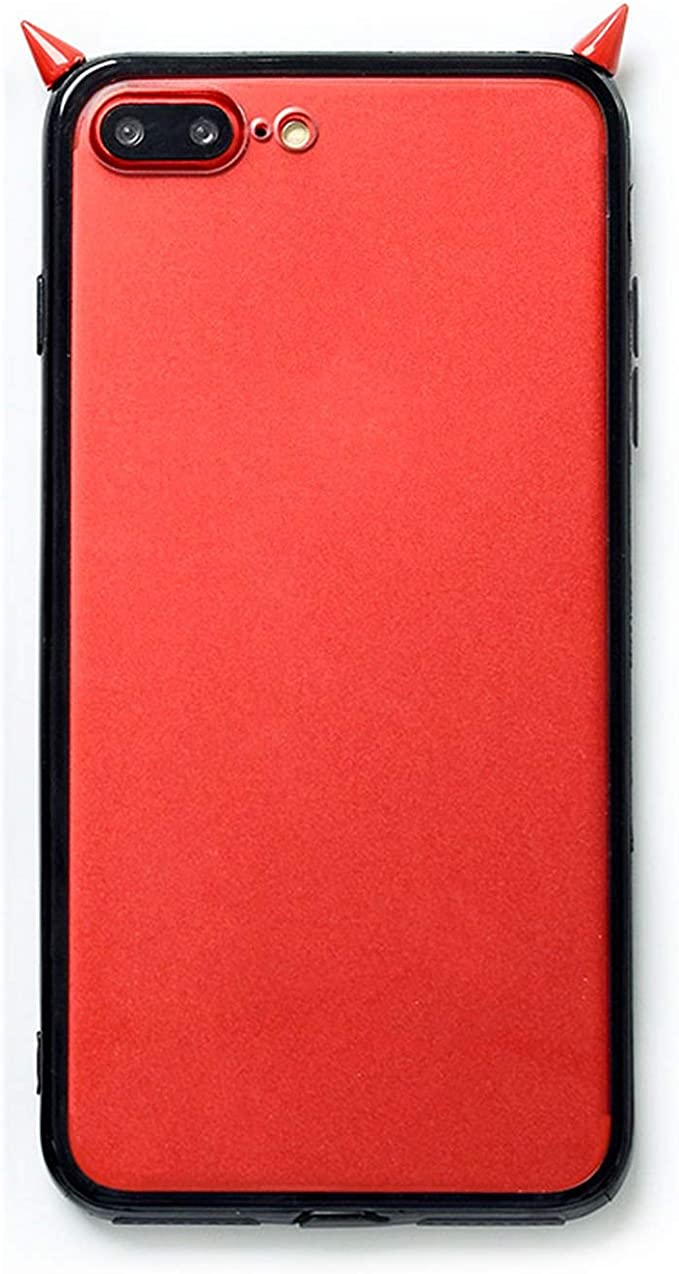 Coque 3D Mignonne Corne de Diable en TPU Transparent pour iPhone 7 ...