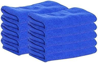 10pcs BLUE Microfibre Cleaning Auto Car Detailing Soft Cloths Wash Towel Duster