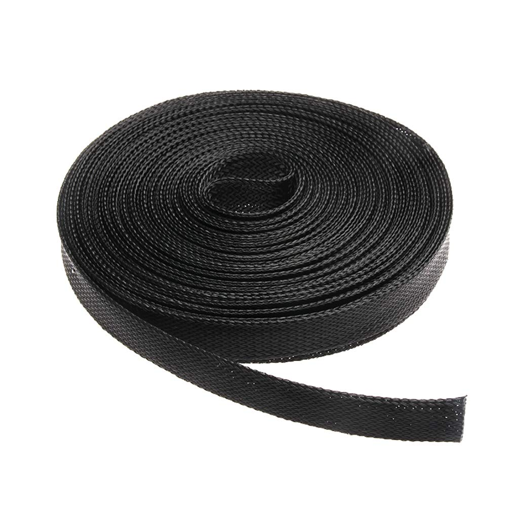 10M Insulation Braided Sleeving 2/4/6/8/10/12/15/20/25mm Tight PET Wire Cables Protection Expandable Cable Sleeve Wire Gland