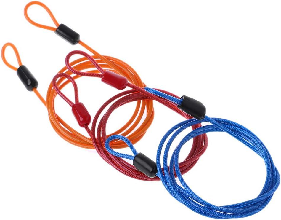Blau Rtengtunn Fahrradschloss Stahldraht Kabel 1m Sicherheitsschlaufe Fahrradschutz Diebstahl