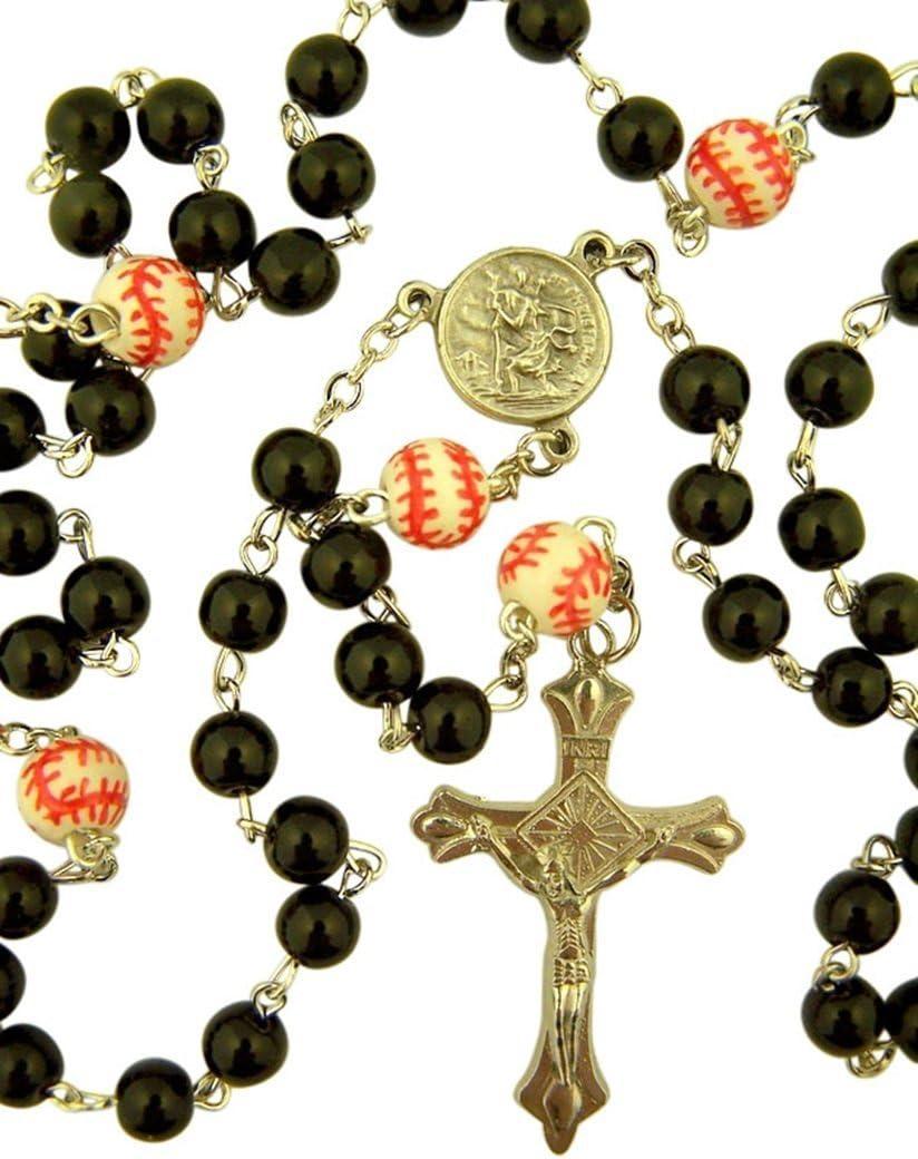Shape Bead 20 Inch Corded Athletic Wear Sports Rosary Softball CB Athlete Protection Baseball