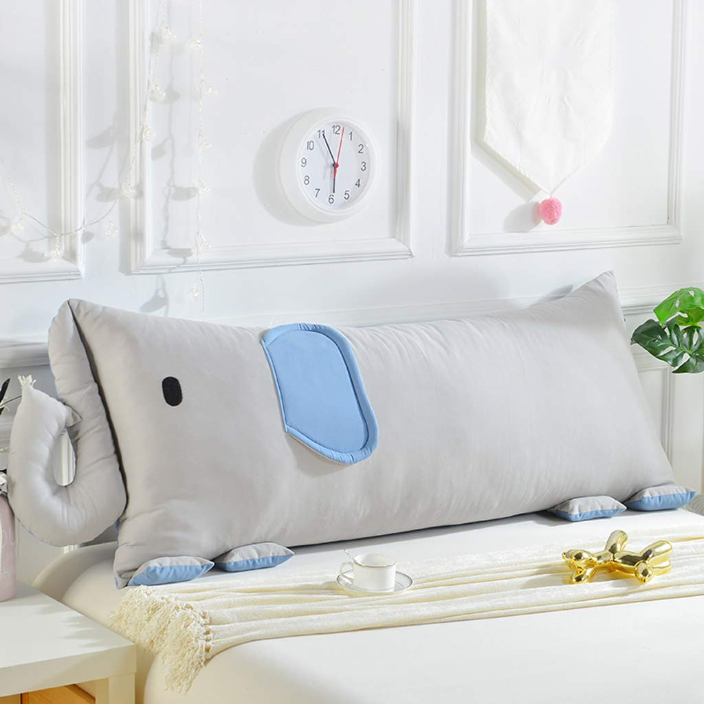 GAOYANG Bed Mat, Bed Wedge Back Cushion, Children's Bed Sofa Pillows, Double Pillow, Small Backrest, Household Bed Soft Pack, Office Waist Pad, Cartoon, Washable, (Color: 2, Size: 14565cm)