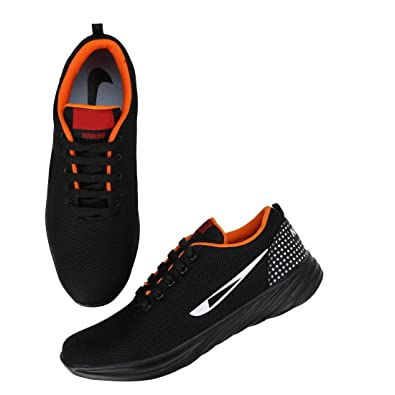detailed look b49ca 07949 Kreema Casual and Comfortable Black Sports Running Walking Training and Gym Shoes  for Men Boys  Buy Online at Low Prices in India - Amazon.in