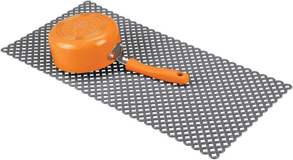 Clear mDesign Starry Kitchen Sink Protector Mat Pack of 2 Extra Large
