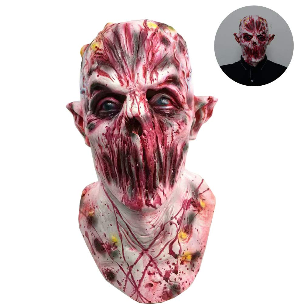 Halloween Horror Zombie Mask Latex Full Head Cosplay Scary Death Masks for Festival Parties