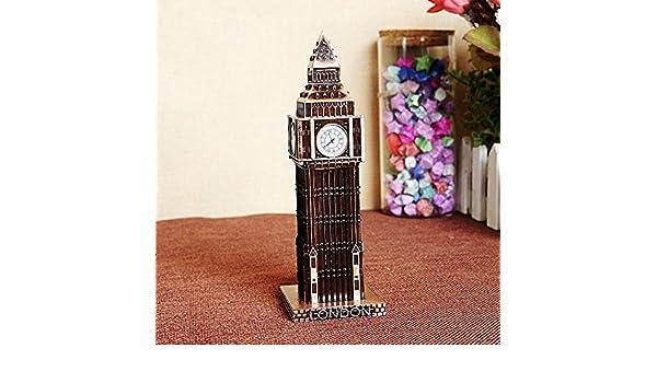 Amazon.com: 15cm London Big Ben Statue Fake Clock Gold Bronze Wine Red Color Famous Building Figurine Model For Home Decoration: Home & Kitchen