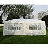 Outsunny 100110-068W 6 x 3m Garden Heavy Duty Pop Up Gazebo Marquee Party Tent Wedding Canopy with free Storage Bag - White
