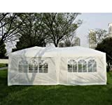 Outsunny 3 x 6m Garden Heavy Duty Pop Up Gazebo Marquee Party Tent Wedding Canopy with free Storage Bag - White