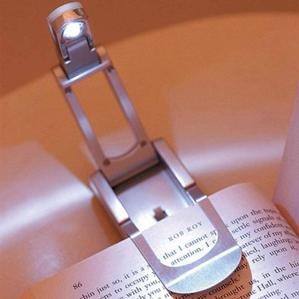 DHmart Reading Lamp LED Book Lights Foldable Indoor Lighting Adjustable Home Decoration Portable Flexible a Book Clip