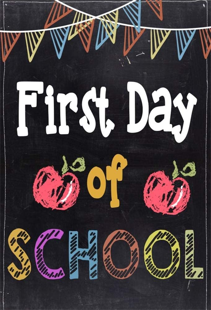 COMOPHOTO 10x7ft Back to School Backdrop Kids Baby First Day of School Photo Booth Backdrops Blackboard Back to School Party Background Supplies Props