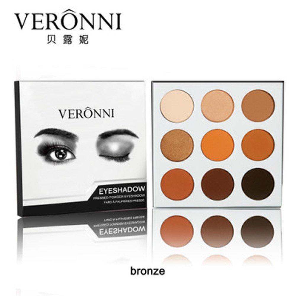 HCFKJ Lidschatten Palette, 9 Farbe ✿ Matte langlebige bunte Lidschatten Lidschatten Presse Powder Kosmetik Make-up (#1) ✿ HCFKJ