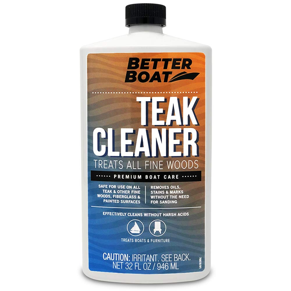 Better Boat Teak Cleaner for Teak and Other Fine Woods Boats Cleaning Marine Stain Remover for Wood 32oz