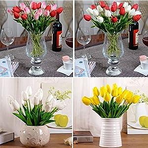 YJYDADA 10pcs Tulip Artificial Flower Latex Real Touch Bridal Wedding Bouquet Home Decor 3