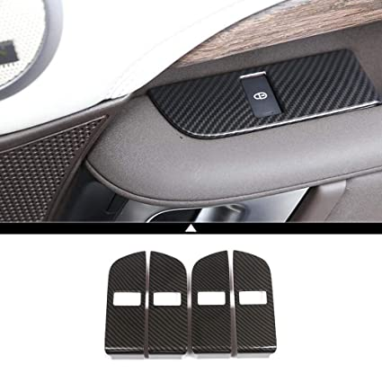 Automobiles & Motorcycles 4pcs Car Child Safety Door Lock Switch Panel Cover Trim For Land Rover Discovery 5 2017-2018