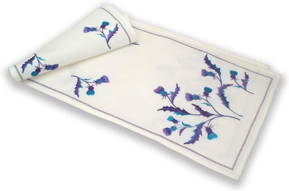 in a Scottish Thistle Bute Design Large Justina Claire Table Runner
