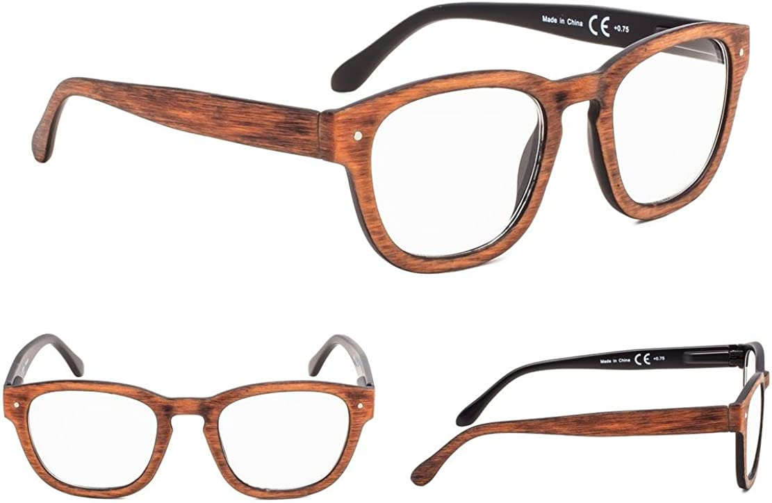 4-Pack Vintage Reading Glasses with Spring Hinges
