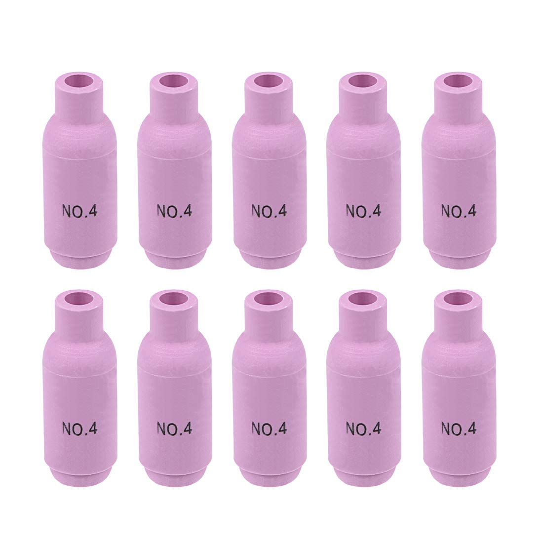 uxcell 10Pcs 10N50 4# TIG Electric Welding Torch Ceramic Nozzle Cap Sleeve 6.5/×48mm