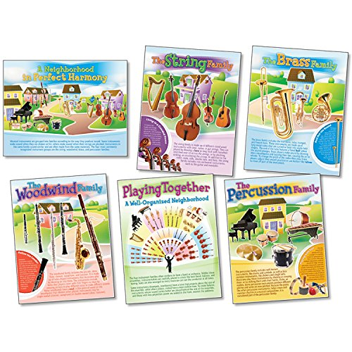 NORTH STAR TEACHER RESOURCE Musical Instruments Posters