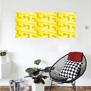 Amazon.com: Liguo88 Custom canvas Yellow Decor Tile Like Square ...